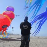 JB flying amongst the big kites, Lincoln City 2012