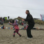 JB flying with Annika, Lincoln City 2012