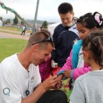 JB meeting kids in Bogota, Colombia 2012
