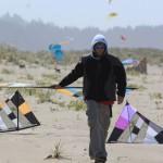 Swapping kites in Long Beach, WA