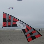 Flying at WSIKF with the signature red and black kite